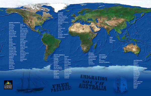 World Heritage Site Diaspora Map